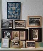 Group of 10 Framed Items Civil War to World War II