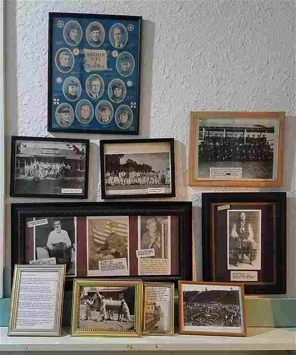 Group of 10 Framed Items Civil War to World War II.