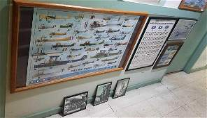 Group of 7 Framed Aviation Items  more