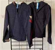 Group of 2 WW2 US Navy yeoman jumpers