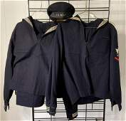 Group of 2 WW2 US Navy carpenters mate uniforms