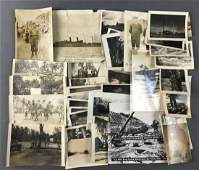 Group of Appx 40 WW2 era candid bw photos and