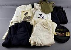 Group of vintage Navy uniforms