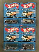 Group of 4 Hot Wheels Super Chromes diecast vehicles