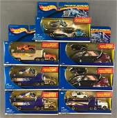 Group of 7 Hot Wheels Pavement Pounder die-cast vehicle