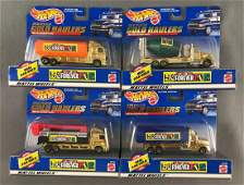 Group of 4 Hot Wheels Toys R Us 24k Plated Gold Haulers