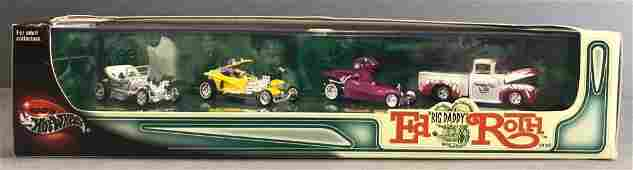 Hot Wheels Big Daddy Ed Roth die-cast vehicle set in
