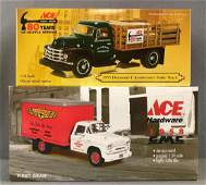 Group of 2 First Gear Ace Hardware die-cast vehicles in