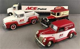 Group of 4 assorted Ace Hardware die-cast vehicles and
