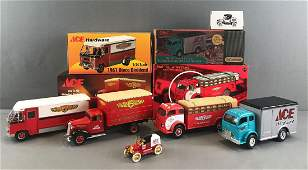 Group of 5 assorted Ace Hardware die-cast vehicles