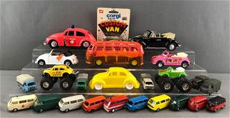 Group of 20+ assorted Volkswagen toy vehicles
