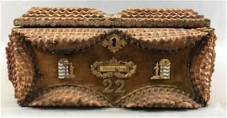 Antique Tramp Art Zweibrucken Jewelry Box