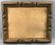 Antique Tramp Art : Framed Cork Board