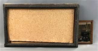 Lot of 2 : Antique Tramp Art Examples - Framed