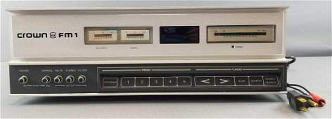 Vintage Crown FM1 Stereo Tuner