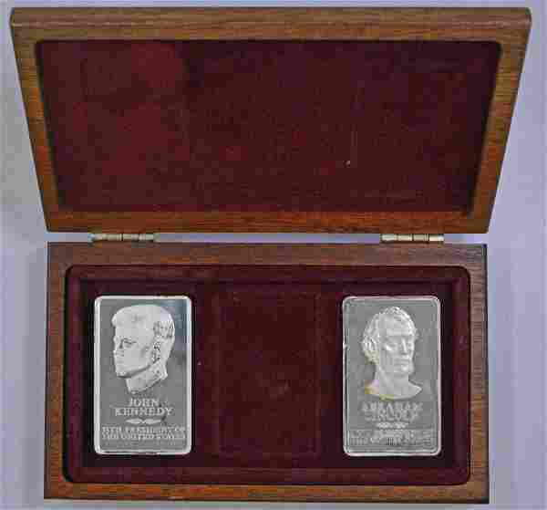 Group of (2) Franklin Mint Sterling Silver 10oz. Silver