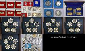 Over 134.0 Troy Ounces Sterling & .999 Fine Silver