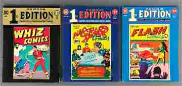 Group of 3 Whiz Comics DC Famous First Editions