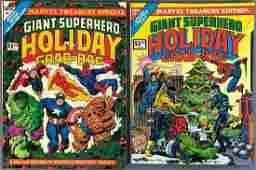 Group of 2 Marvel Comics Treasury Giant Superhero