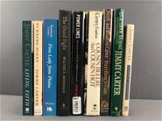 Group of 9 Presidential Signed Books - Carter Walter