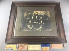 8 piece group Antique Baseball Team Photo, vintage