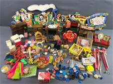 Group of 100+ Dollhouse Miniatures