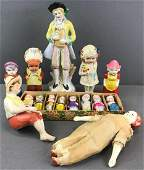 Group of 15 assorted porcelain dolls and figurines