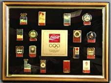 Framed CocaCola 16th Anniversary Olympic Winter Games