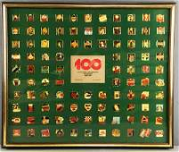 Framed CocaCola Centennial Celebration Pin Series