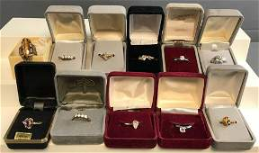 Group of 11 Fashion Jewelry Rings