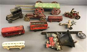 Group of 10 Assorted Vintage Transportation Toys