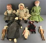 Group of 7 Vintage Dolls
