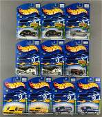 Group of 10 Hot Wheels Treasure Hunt diecast vehicles