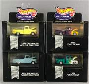 Group of 4 Hot Wheels Collectibles diecast vehicles in