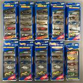 Group of 10 Hot Wheels Gift Pack die-cast vehicle sets