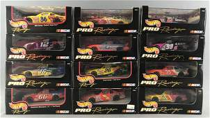 Group of 12 Hot Wheels Pro Racing NASCAR diecast