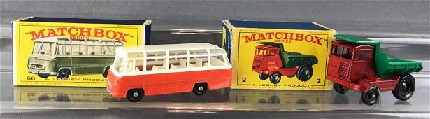 Group of 2 Matchbox diecast vehicles with original
