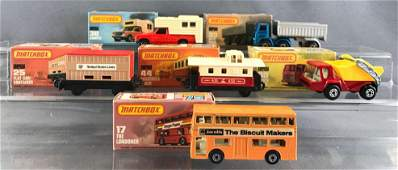 Group of 5 Matchbox diecast vehicles with original