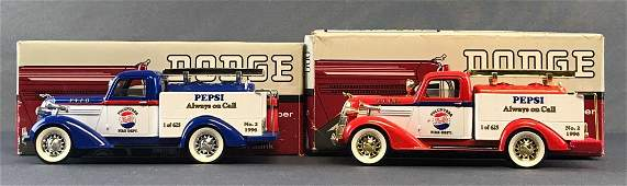 Group of 2 Spec Cast 1936 Dodge Fire Pumper die-cast