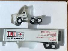 Group of 3 PEM DieCast Tractor Trailers in Mostly