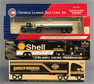 Group of 3 Assorted die-cast tractor trailer in