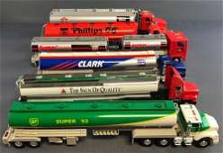 Group of 6 Gas tractor trailers