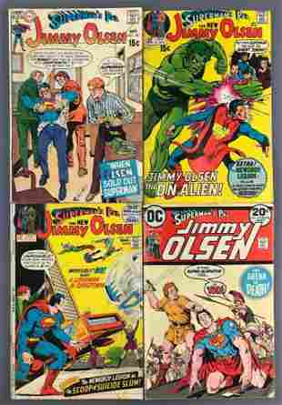 Group of 4 DC Comics Supermans Pal Jimmy Olsen Comic