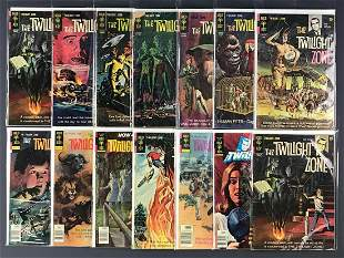 Group of 14 Gold Key The Twilight Zone comic books