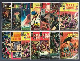 Group of 14 Gold Key assorted space comic books