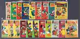 Group of 19 Gold Key Walt Disneys Comics and Stories