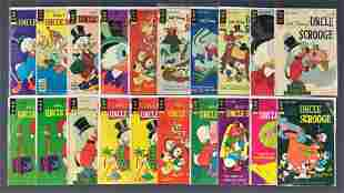 Group of 20 Gold Key Uncle Scrooge comic books
