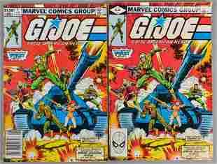 Group of 2 Marvel Comics G.I. Joe No. 1 Comic Book