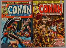 Group of 2 Marvel Comics Conan The Barbarian Comic