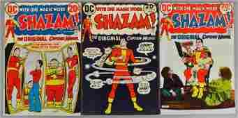 Group of 3 DC Comics Shazam Comic Book